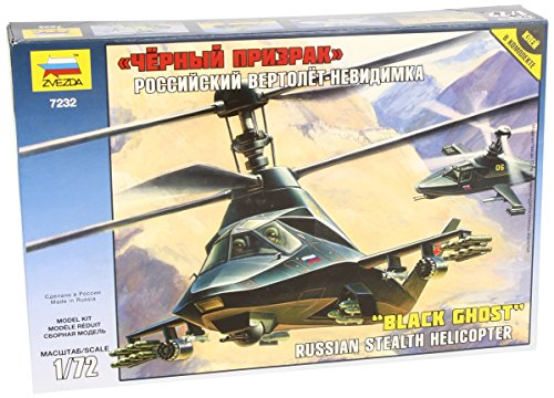 Zvezda Models Kamov Ka-58 Black Ghost Helicopter