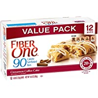 4-Pack Fiber One 90 Calorie Bar, Cinnamon Coffee Cake, 12 Ct