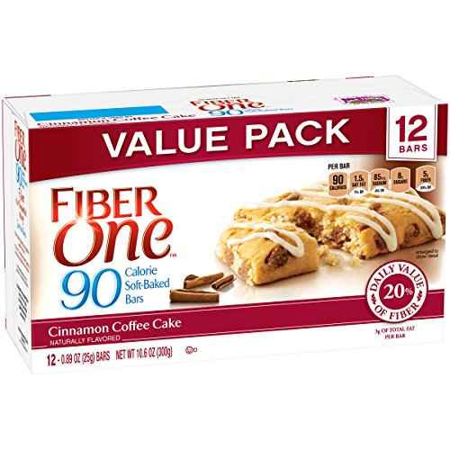Fiber One 90 Calorie Bar, Cinnamon Coffee Cake, 12 Count Pack of 4