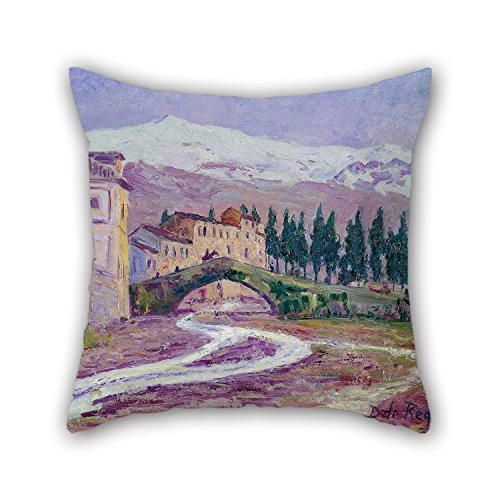 Artistdecor Pillow Covers Of Oil Painting Darío De Regoyos - Sierra Nevada 20 X 20 Inches / 50 By 50 Cm,best Fit For Teens Girls,pub,home,sofa,festival,teens Boys 2 Sides