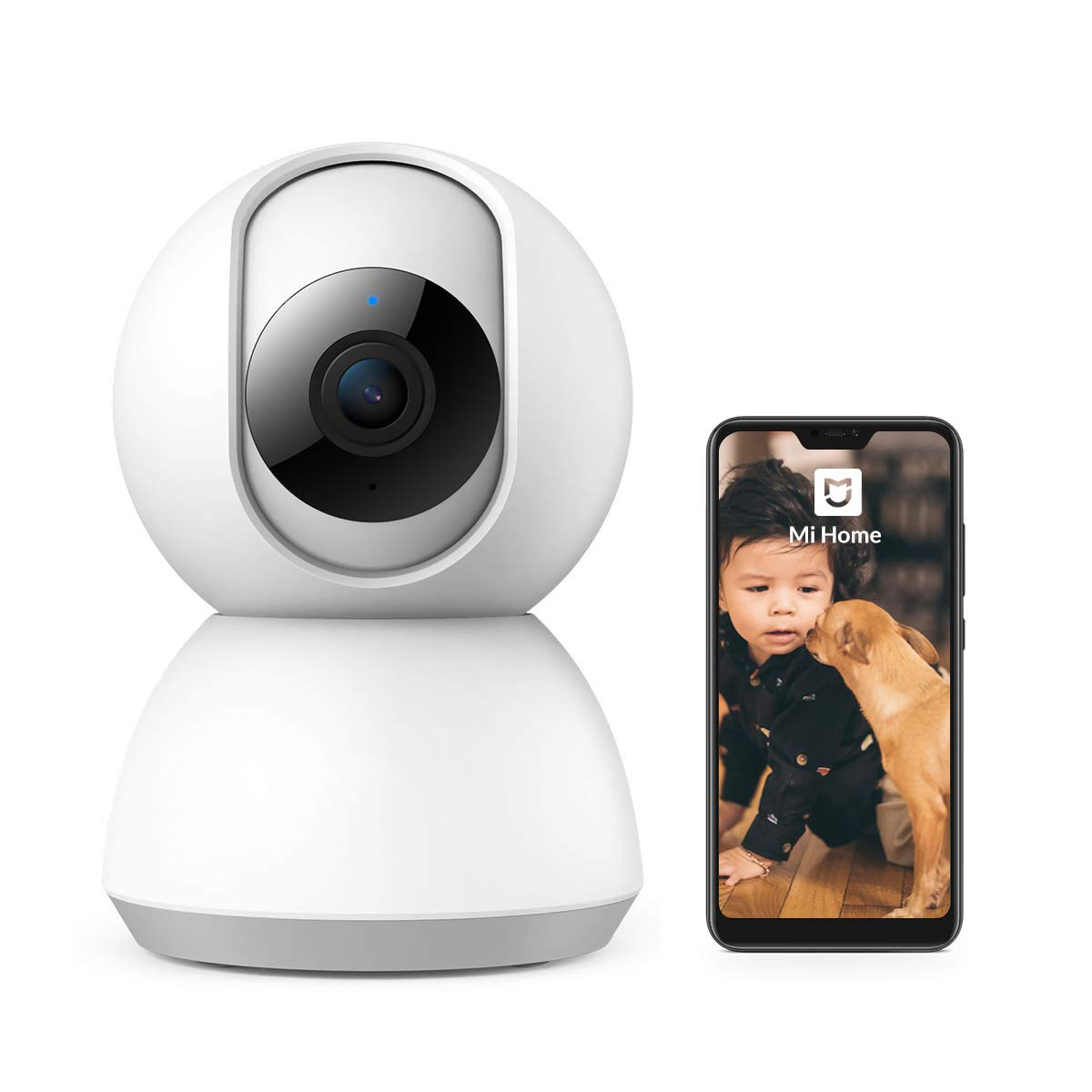 MIHome 360 Camera 1080P Surveillance Smart Camera with Two-Way Audio WiFi Indoor Dome Camera for Pet Baby Elder Monitor HD Night Vision Remote Monitor with iOS Android No SD