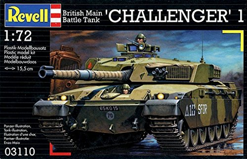 Tank Battle British Main (REVELL British Main Battle Tank 'Challenger' Plastic Model Kit 1:72 Scale by Revell)