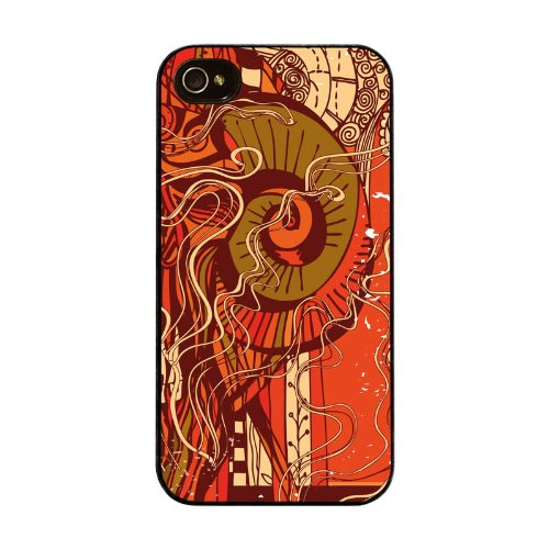 Diabloskinz H0026-0004-0067 Orange Psychedelic Sheep Schutzhülle für Apple iPhone 4/4S