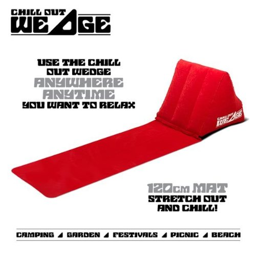 CKB Ltd® Chill Out Portable Travel Inflatable Lounger with Wedge Shape del asiento amortiguador trasero Soporte Pillow silla de Lumbar - Perfecto para ...