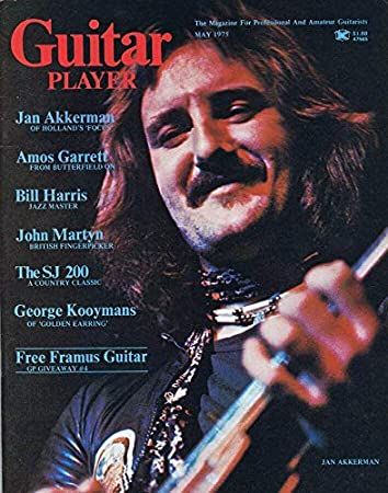 Guitar Player Magazine May 1975 Ян Аккерман Focus Amos Garrett No Label at Amazon's Sports Collectibles Store
