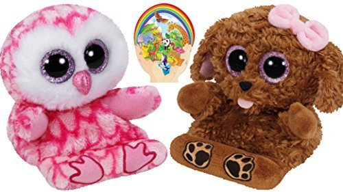 Milly Animal (Ty Beanie Peek-a-Boos Dog ZELDA and Owl MILLY Set of 2 Smartphone holders with Bonus Animals Sticker)