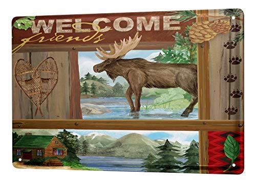 (LEotiE SINCE 2004 Tin Sign Metal Plate Decorative Sign Home Decor Plaques 30 x 40 cm Kitchen Moose)