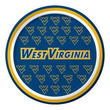 West Virginia Mountaineers Dessert Paper Plates, 8-Count -