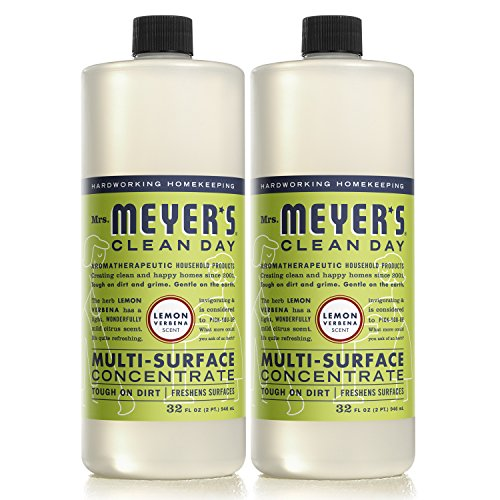 MRS MEYERS Multi-Surface Concentrate, Lemon Verbena, 32 Fluid Ounce (Pack of 2)
