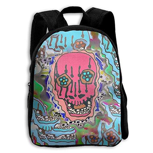 Mescalito Style Skull Kid Boys Girls Toddler Pre School Backpack Bags - Style Vanitas