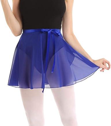 Freebily Falda Cruzada de Abrigo para Danza Ballet Patinaje Mujer ...