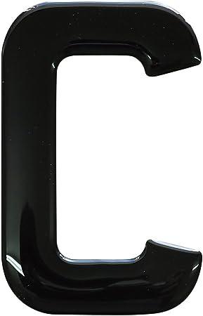 3D Resin//Gel Domed Self Adhesive Number Plate Number 2 Black