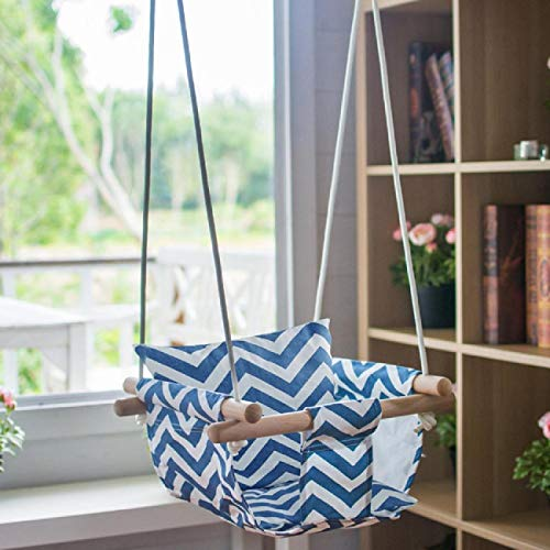 Dyna-Living Hanging Swing Seat Indoor Outdoor Secure Canvas Hanging Swing for Kids Hammock Chair for Toddler Boys and Girls