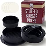 #4: Non Stick Burger Press Patty Maker + 40 Wax Paper Discs, Easy to Use, Dishwasher Safe, Works Best for Stuffed Burgers, Sliders, Regular Beef Burger, Essential Kitchen & Grilling Accessories