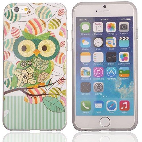Voguecase® Schutzhülle / Case / Cover / Hülle / TPU Gel Skin für Apple iPhone 6 4.7 Zoll (Eule 07) + Gratis Universal Eingabestift
