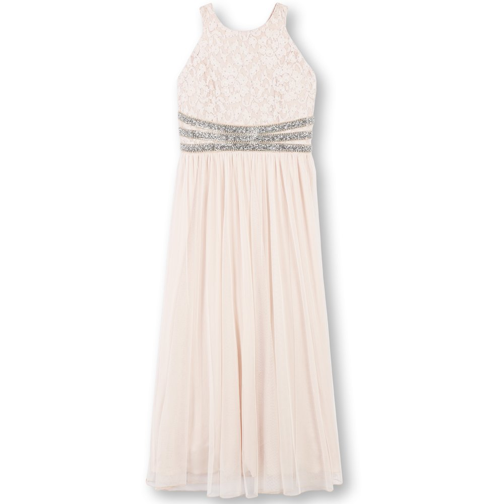 142200f9697 Amazon.com: Speechless Girls' Big Lace to Chiffon Maxi Dress: Clothing