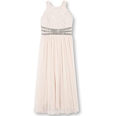 12b26a47fc0b Amazon.com: Speechless Girls' Big Lace to Chiffon Maxi Dress: Clothing