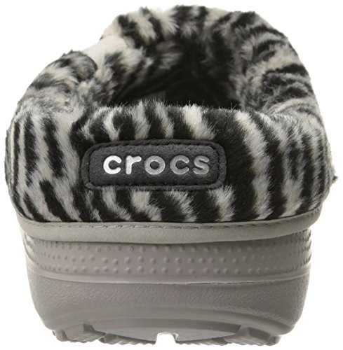 Print Clogs Crocs Unisex II Black Animal Grey Blitzen Adults' Platinum q7w7v