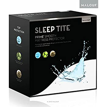 MALOUF Sleep TITE PR1ME Smooth 100% Waterproof Hypoallergenic Mattress Protector with 15-Year Warranty - King Size
