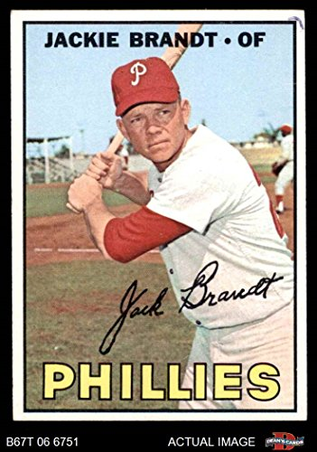 1967 Topps # 142 Jackie Brandt Philadelphia Phillies (Baseball Card) Dean's Cards 2 - GOOD (142 Blank)