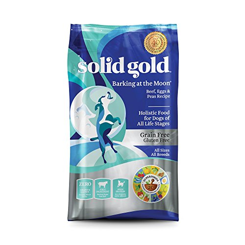 Solid Gold High Protein Dry Dog Food; Barking at the Moon Grain-Free with Real Beef; 24 lb