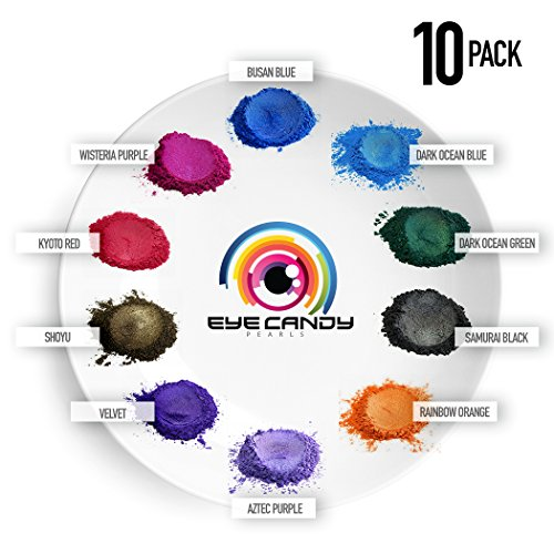 Mica Powder - Pigment Powder 10-Pack Set A - Colorant for Epoxy - Resin - Soap Molds - Candle Making - Slime - Bath Bombs - Nail Polish - Cosmetic Grade - Non-Toxic