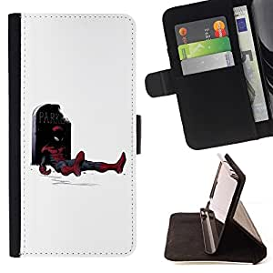 DEVIL CASE - FOR Samsung Galaxy S4 Mini i9190 - Funny Superhero - Style PU Leather Case Wallet Flip Stand Flap Closure Cover