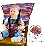 LINPAS Easy Seat Portable High Chair Baby Chair Belt Harness Baby Safety Seat Harness Portable Washable Cloth