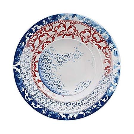 DMMW Juego de platos de porcelana Creativo Moda Cerámica ...
