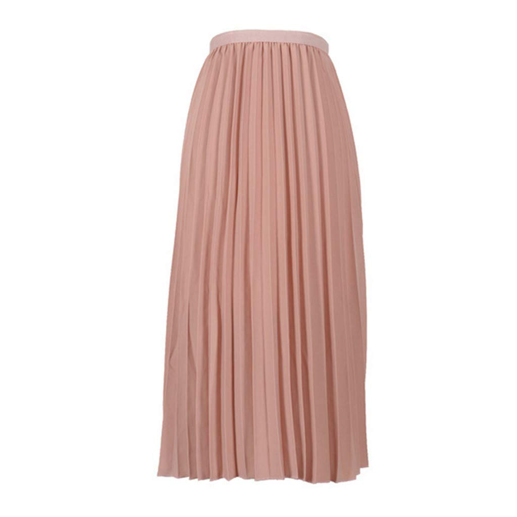 Tantisy ♣↭♣ Women's High-Waist Metallic Accordion Pleated Formal Party Maxi Skirt Summer Fashion Boho Flared Skirts by Tantisy ♣↭♣ Fashion Women's