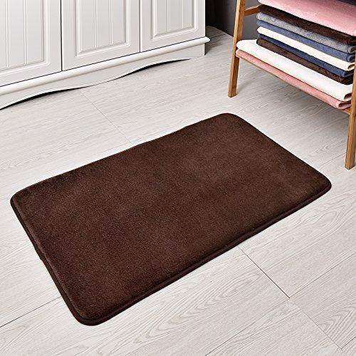 - Welland WHM100-340 Memory Foam Bath Mat and Shower Rug, Chocolate