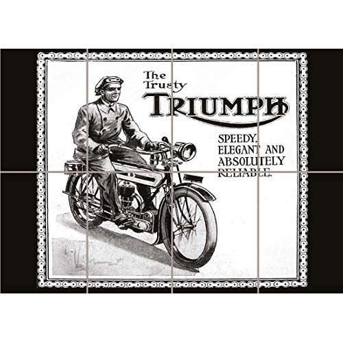 (PANEL ART PRINT TRIUMPH MOTORCYCLE VINTAGE UK VINTAGE OLD ADVERTISING RETRO REPRODUCTION POSTER OZ4562 by PANEL POSTERS)
