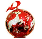 """Waterford Red Reindeer Ball Ornament 4"""""""