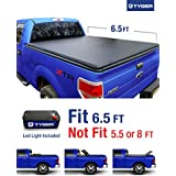 Tyger Auto TG-BC3F1020 TRI-FOLD Truck Bed Tonneau Cover 2009-2014 Ford F-150 (Excl. Raptor Series) | Styleside 6.5' Bed | For models without Utility Track System