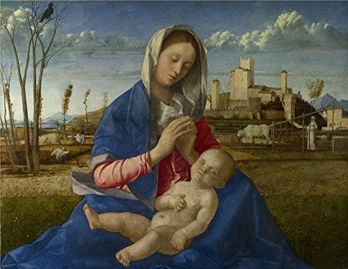 Oil Painting 'Giovanni Bellini Madonna Of The Meadow ' Printing On Polyster Canvas , 18 X 23 Inch / 46 X 59 Cm ,the Best Dining Room Decor And Home Gallery Art And Gifts Is This Reproductions Art Decorative Prints On (Viper Vampire Adult Mask)