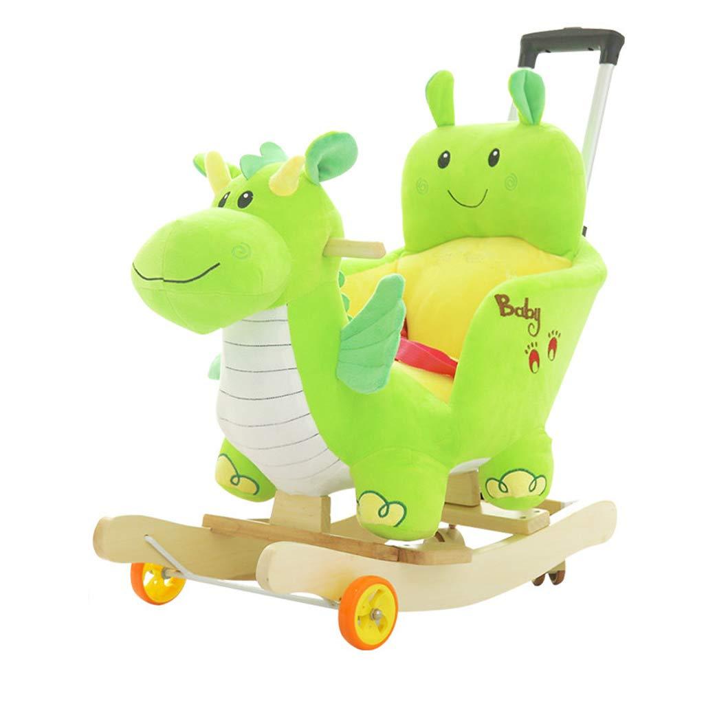 Cavalli a dondolo FJH Legno massello Giocattoli per Bambini Musica Sedia a Dondolo Troia Baby Car Baby Baby Regalo 60  28  60cm