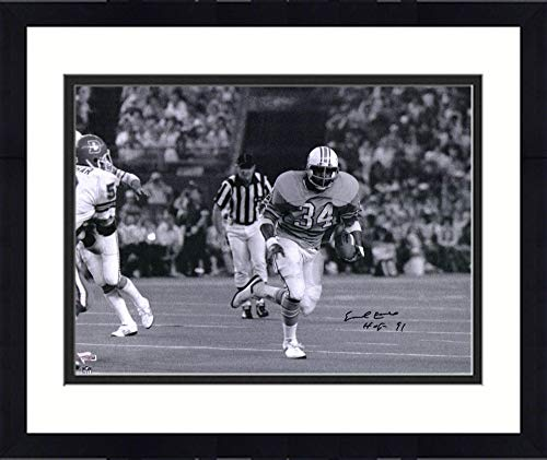 Framed Earl Campbell Houston Oilers Autographed 16