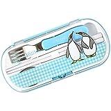 こぐまちゃんとどうぶつえん 日本製 トリオセット (ぺんぎん) 食洗器OK! 【KJ-KFG-K065】