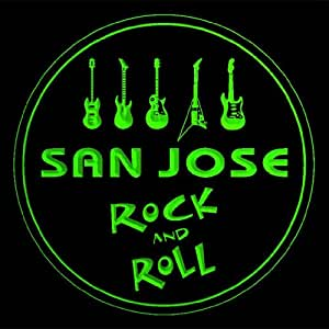 4x ccqp2060-g SAN JOSE Guitar Weapon Rock & Roll Bar Beer 3D Engraved Drink Coasters