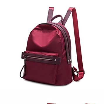 Amazon.com: SUN Oxford Cloth Backpack Female College Style School Bag Mummy Bag Burgundy/Red/Black/Pink (Color : Red wine, Size : Small size): Garden & ...
