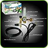 Hydroponics (Co2) Regulator Emitter System with Solenoid Valve Accurate and Easy to Adjust Flow Meter Made Brass - Shorten up and Double Your Time for Harvesting!