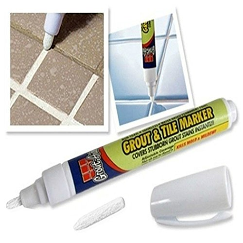 zqasales Grout Tile Marker Repair Pen Practical White Wall Tiles Floor Non Toxic Fix Tools