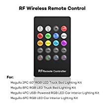 Underdash Lighting Kit, Megulla RGB Multi-Color LED Car Interior Lights with Sound Activation and Wireless Remote for Cars, Pickups and More