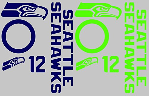 Seattle Seahawks Cornhole Decal Set - Free Circles