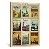 iCanvasART ADG151 Europe Collection by Anderson Design Group Canvas Print, 40 by 26-Inch, 0.75-Inch Deep
