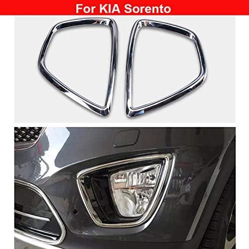 For Kia Sorento UM 15-19 8pcs Chrome Rear Tail Light Lamp Cover Trim Bezel Frame