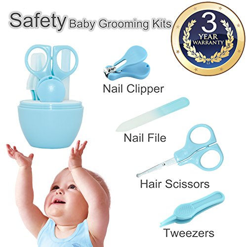 Baby Nail Clippers, Baby Manicure Set, Nursery Care Kit For Newborn, Infant Comfy Nail Kit, Toddler Nail Grooming; Baby Nail Trimmer; Nail Clippers + Scissors + Tweezers+Nail File