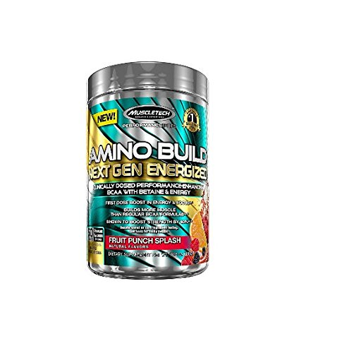 Amino Build by MuscleTech - Superior Strength Enhancing BCAA Post-Workout Supplement (50 Servings, Fruit Punch)