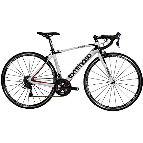 Tommaso Ghisallo - Holiday Special Pricing - Carbon Fiber Road Bike, Shimano Tiagra, Aero Wheels - Extra Small