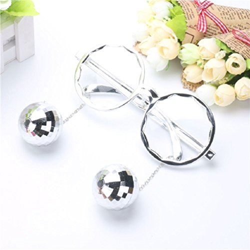 Shiny Hanging Disco Ball Glasses Creative Sunglasses Birthday Party - Disco Ball Glasses
